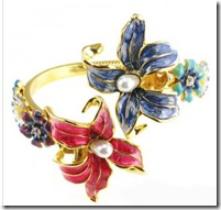 Kenneth Jay Lane Flower Bangle