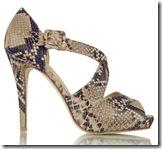 LK Bennett python sandal