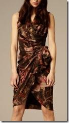 all saints tropic pattern dress on model