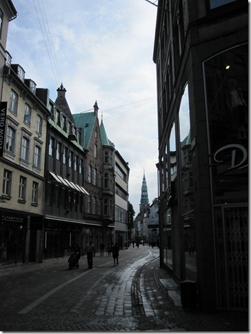 The streets of Copenhagen on a Sunday morning