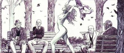 desnuda y ancianos