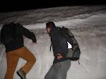 Došlo i na lezení v ledu.