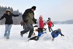 Obíhat metu na zasněženém ledě není nikterak jednoduché.