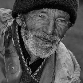 Shepherd by Alah Ja Ja Bin - People Portraits of Men ( shepherd, single, black and white, old man, people, photography, portrait )