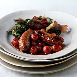 Italian Sausage with Red Grapes