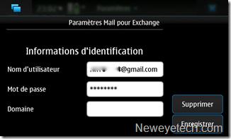 Nom d'utilisateur + mot de passe Google