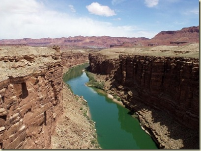 04 Colorado River upstream Marble Canyon from Navajo Bridge Hwy 89A S AZ (800x600)