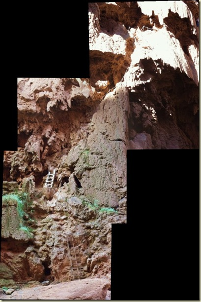 08 Ladders & chains for trail from base of Mooney Falls Havasupai Indian Reservation AZ pano (532x800)