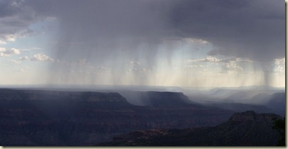 07 Rain over canyon from Crazy Jug Point Kaibab NF AZ