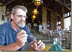 01 Mike sampling a shrimp dish at Grand Lodge dinning room NR GRCA NP AZ (1024x768)