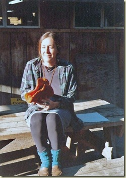 01 11-98 Gaelyn with Lobster mushroom at Eagles Cliff  WA (563x800) (559x796)