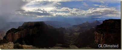 05 Stormy skies clearing over Wotons Throne & canyon from Cape Royal Walhalla Plateau NR GRCA NP AZ (1024x414)