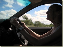 Gaelyn driving Kruger National Park Mpumalanga South Africa