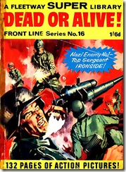Fleetway Super Library - Frontline Series No.16 - Top Sergeant Ironside - Dead or Alive - Cover
