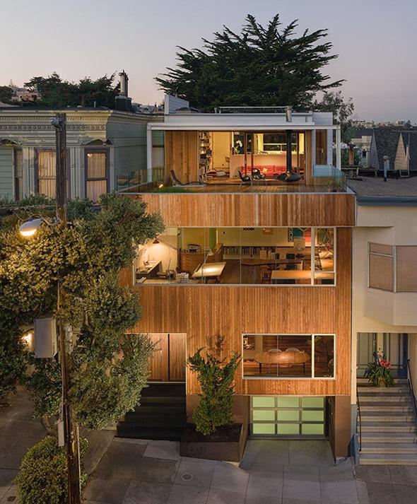 California hillside house plans House design ideas