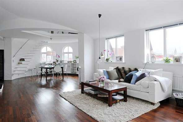 small white apartment interior design plains