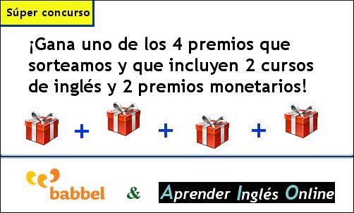 Concurso - gana estupendos cursos online para aprender inglés con Babbel y más premios