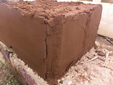 First wall test showing cracks from failing formwork