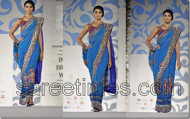 Nisha-Sagar-Sari-Collection-India-Bridal-Week