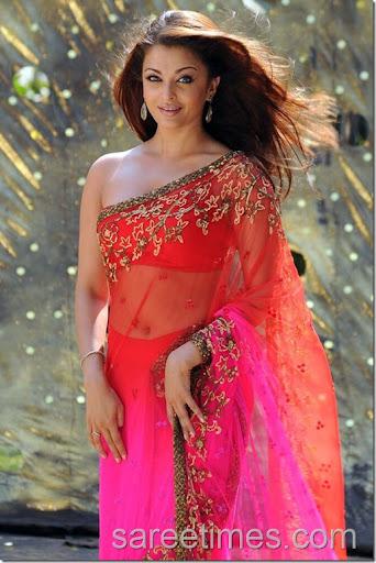 aishwarya sari style
