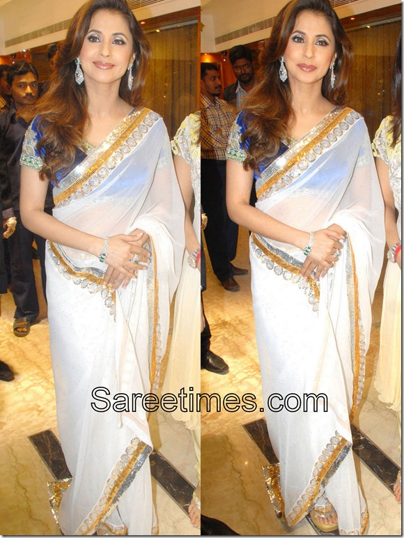 Urmila Matondkar_White_Sari