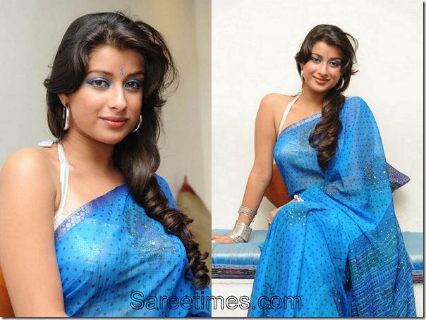 Madhurima_Blue_Designer_Sari