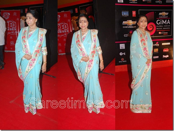Asha_Bhosle_Blue_Saree