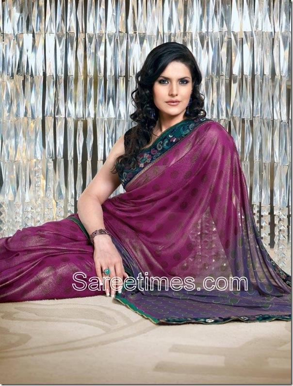 Zarine_Khan_Purple_Designer_Sari