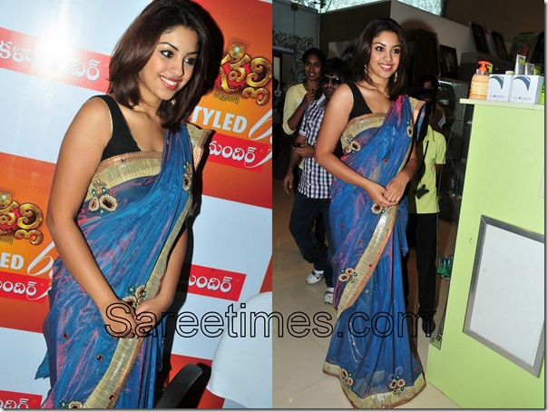 Richa_Gangopadhyay_Purple_Designer_Saree
