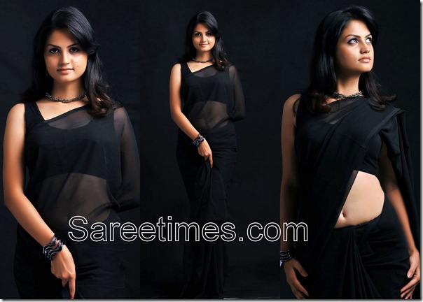 Madhulika_Black_Plain_Saree