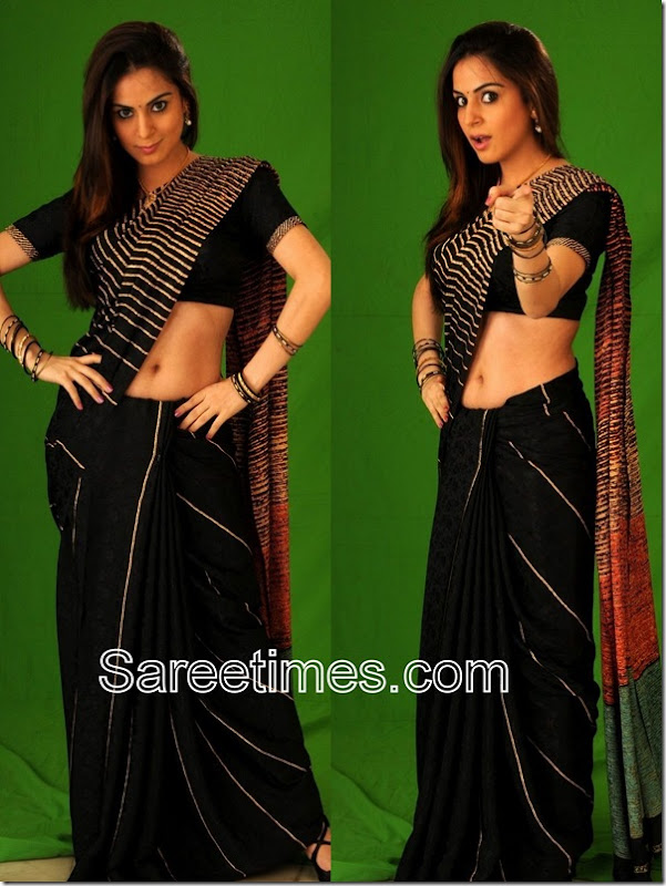 Sraddha_Arya_Black_Designer_Saree
