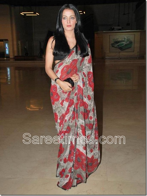 Celina-Jaitley-sleeveless-saree