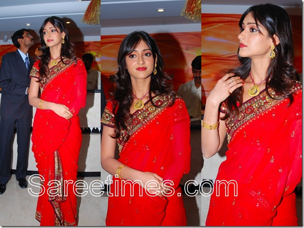 Ileana_Red_Saree
