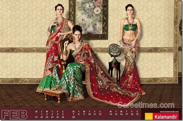 Red_Green_Kalamandir_Saree