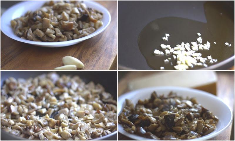 collage ciuperci cu usturoi