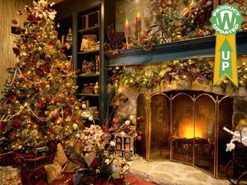 Xmas Fireplace animated wallpaper