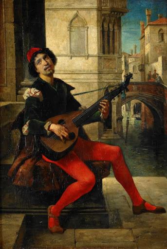Sir Hubert Von Herkomer (1849-1914) - A serenade, 1877
