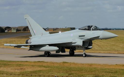 RAF en Malvinas Typhoonenmalvinas
