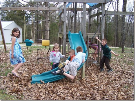 kids playing easter