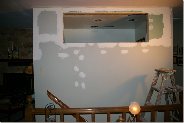 hole in the wall where the window used to be