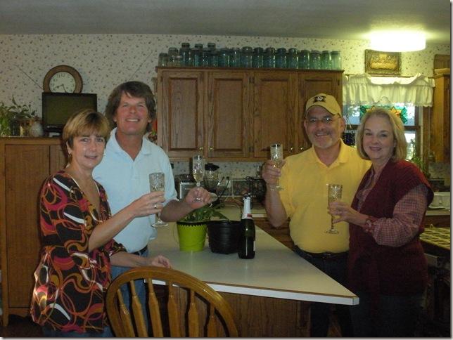 Champain toast