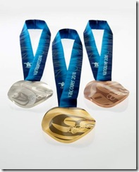 Vancouver 2010's medals are unusual