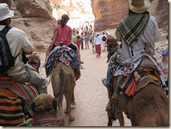 Headed to the Treasury on our Camels.