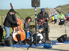 Musiker an der Strecke