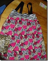 wacky fabric apron