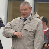 Martin Clunes during filming the second series of Doc Martin in Port Isaac