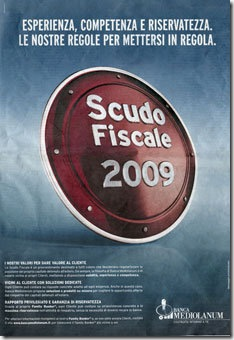 pubblicità mediolanum scudo fiscale