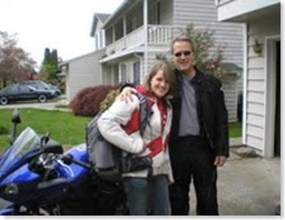 lauren and Jeff with motorcycle