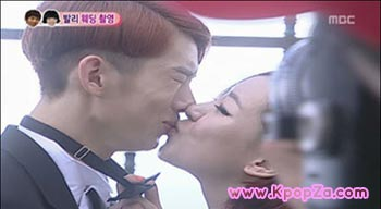 Jo Kwon และ Ga In จูบกันใน We Got Married