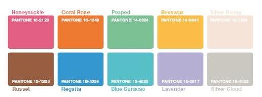 Pantone - couleurs tendances printemps 2011